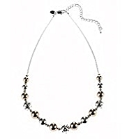 M&S Collection Silver Plated Two Tone Collar Necklace