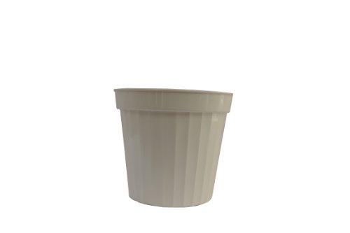Plastic Decorative Pots 8 White
