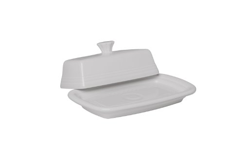 Fiesta Covered Butter Dish, X-Large, White (White Covered Butter Dish compare prices)