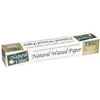 NATURAL VALUE WAX PAPER UNBLEACHD, 75 FT (Natural Value Wax Paper compare prices)
