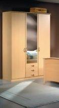 LIEFERUNG in die WOHNUNG - 3148: Kleiderschrank fur Senioren - Senioren Kleiderschrank - buche dekor