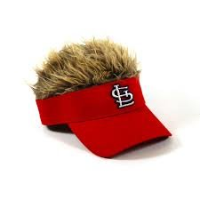 MLB Licensed St. Louis Cardinals Visor with Hair Hat Cap by MLB