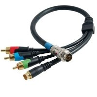 Cables To Go 42075 RapidRun Component Video + S-Video Flying Lead (1.5 Feet, Black)