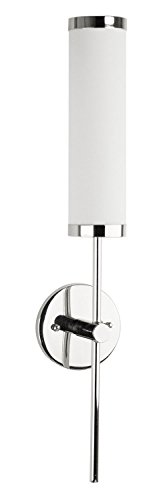Linea di Liara Presto Polished Chrome One-Light Wall Sconce Lamp with Frosted Shade LL-WL111 (Polished Chrome Wall Sconce compare prices)