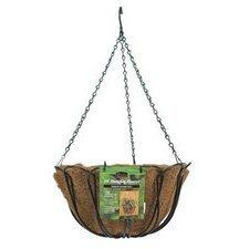 "Panacea 88503 Hanging Basket With Liner 14"" - Green"