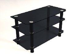 Image of Contempo Black Plasma TV Stand - 46 Inch TV (B0017LQ488)