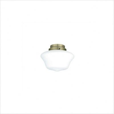 White Frosted Schoolhouse Globe Ceiling Fan Glass Bowl Shade