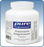 magnésium et de potassium (citrate) 180 caps
