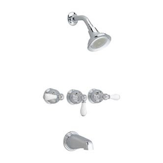 American Standard Williamsburg 3 Handle Tub and Shower Faucet