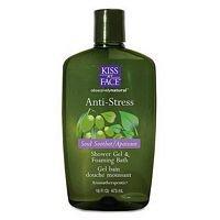 Kiss My Face: Bath & Shower Gel, Anti-Stress 16 Oz (4 Pack)