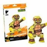 Paper Punk Teenage Mutant Ninja Turtle TMNT Michelangelo Pizza Build Your Own Paper Action Figure Toy Nickelodeon - 1