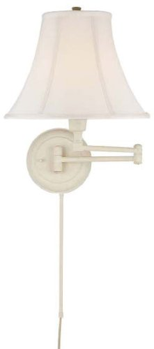 Charleston White Swing Arm Wall Lamp - C7501WHT