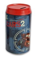 Disney Cars 2 Tin Saving Bank