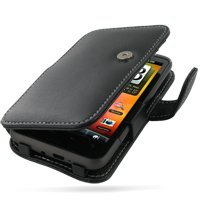 PDair Leather Case for HTC Desire HD A9191 - Book Type (Black)