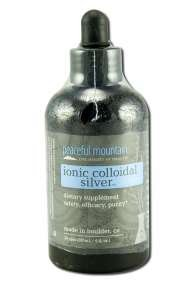 Peaceful Mountain Ionic Colloidal Silver 7.6 Oz Anti-Microbial Formulas