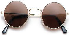 ROUND BLACK LENS, METAL FRAMED JOHN LENNON/TOMB RAIDER STYLE GLASSES
