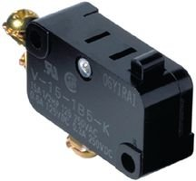 OMRON ELECTRONIC COMPONENTS V-15G-1C25-K MICRO SWITCH, PIN PLUNGER, SPDT 15A 250V