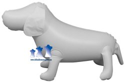 Inflatable Mannequin, Small Dog, White
