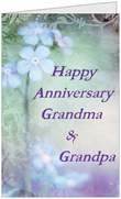 Anniversary Grandparents Flowers5x7 Greeting