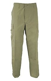 50070 Poly/Cotton Olive Drab (OD) BDU Pants (35-39 WAIST	26-29 INSEAM	Large/Short)