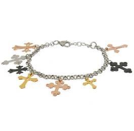 M+Y STEEL Crosses Womens Bracelet
