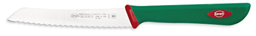 Sanelli Premana Professional Coltello Spelucchino, Acciaio Inossidabile, Verde/Rosso, 23.0 x 1.5 x 2.5 cm