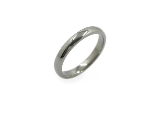 3 mm Classic Titanium wedding band Promise ring ~ Sz 9.5