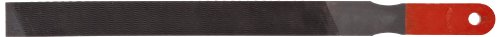 Simonds Mill Paddle Hand File with Handle, American Pattern, Single Cut, Rectangular, Black Oxide Coating, Coarse, 10