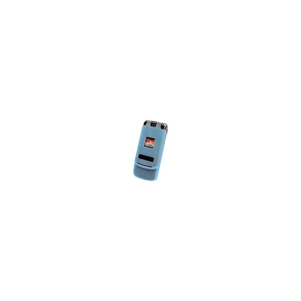 Cellet Motorola KRZR K1M Light Blue Silicone Case