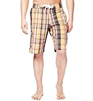 North Coast Checked Cargo Swim Shorts