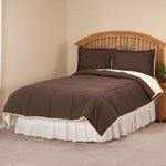 Kathy Ireland Home Essentials Microfiber/Sherpa 3 Piece Down Alternative Comforter, King, Khaki