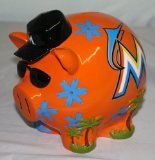 MLB Miami Marlins Resin Large Thematic Piggy Bank - 1
