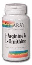Solaray - L-Arginine & Ornithine, 750 Mg, 50 Capsules