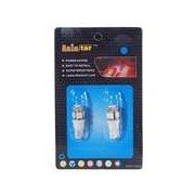 T10 0.75W 12V Blue Light 5-LED Car Turning Signal Light Bulb - White (2-Pack)