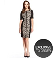 Petite Animal Print Bodycon Dress