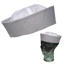 Adult Size White Sailor Hat 12 Pack