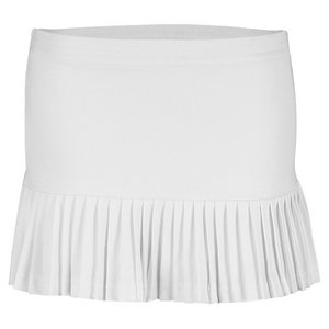 LITTLE MISS TENNIS Girls` Pleated Tennis Skirt White