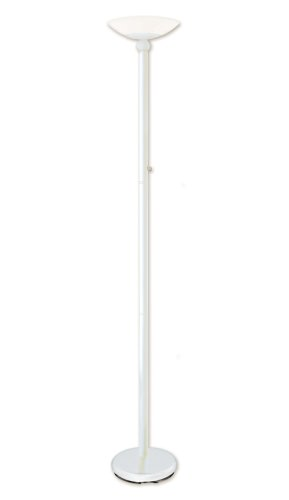Good Earth Lighting GL6543-WH-GLI Lincoln Park Tochiere with Opal Glass Diffuser, White