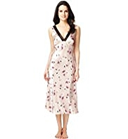Per Una Floral Satin Long Nightdress