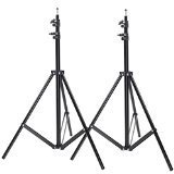 NEEWER® Two Aluminum Photo/Video Tripod Light Stands For Studio Kits, Lights, Soft Boxes - 6.23 Feet