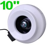"""Top Grade Static Pressure High Performance Inline Vent Duct Exhaust Fan Blower 10"""" Inch In 760 Cfm Growing Area Grow Room Tent Box"""