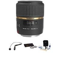 Tamron Sp 60Mm F/2 Di Ii 1:1 Macro Af Lens Kit, For Canon Eos - With 6 Year Usa Warranty, Tiffen 55Mm Photo Essentials Filter Kit, Lens Cap Leash, Professional Lens Cleaning Kit