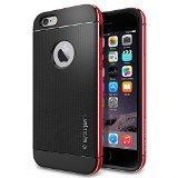 iPhone 6 ケース Spigen [ リアル アルミニウム バンパー] ネオ・ハイブリッド メタル iPhone 4.7 (2014) (国内正規品) (メタル・レッド SGP11040)