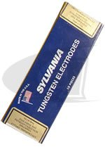 "Sylvania Brand .020"" (0.5mm) 1.5% Lanthanated Tungsten Electrodes Color Code Gold"