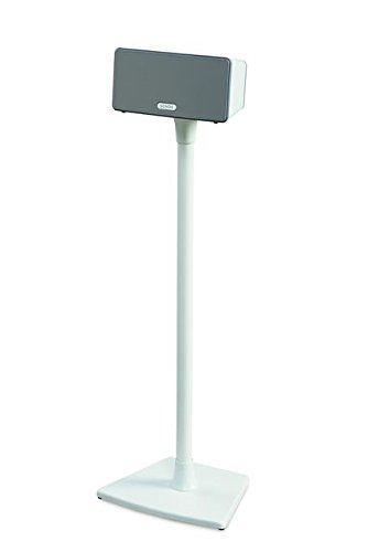 sanus wss2 speaker stands for sonos play 1 and play 3 speakers white pair ebay. Black Bedroom Furniture Sets. Home Design Ideas