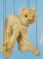 "16"" Persian Cat Marionette (Small)"