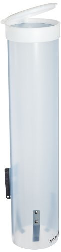 "San Jamar C3165 Medium Pull Type Water Cup Dispenser, Fits 4Oz To 10Oz Cone And Flat Cup Size, 2-1/4"" To 3-1/4"" Rim, 16"" Tube Length, Frosted Blue front-297912"