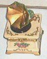 Gramophone Trinket Box