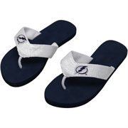 Nhl Tampa Bay Lightning Women'S Team Color Flip Flops, Navy/White, X-Small/5-6 front-25746