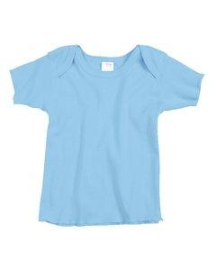 Rabbit Skins Infant Lap Shoulder T-Shirt (Light Blue) (18)
